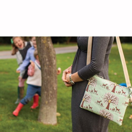 Pink Lining Mum On The Run Nappy Bag, Woodland