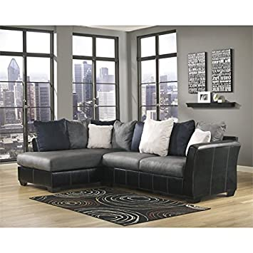 Ashley Furniture Masoli 2 Piece Left Corner Sectional in Cobblestone
