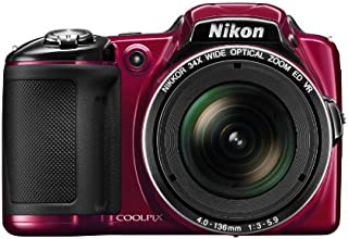 Nikon COOLPIX L830 16 MP CMOS Digital Camera with 34x Zoom NIKKOR Lens and Full 1080p HD Video (Red) (Discontinued by Manufacturer)