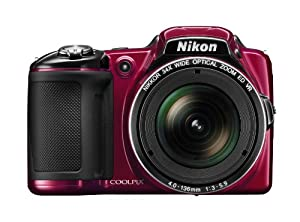 Nikon COOLPIX L830 16 MP CMOS Digital Camera with 34x Zoom NIKKOR Lens and Full 1080p HD Video (Red)