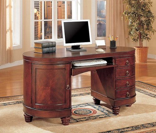 Buy Low Price Comfortable Traditional Kidney Shaped Computer Secretary Writing Desk (B0029RQMTU)