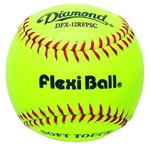 Buy Diamond DFX-12RFPSC Synthetic Leather Practice Softball (1 Dozen) by Diamond Sports