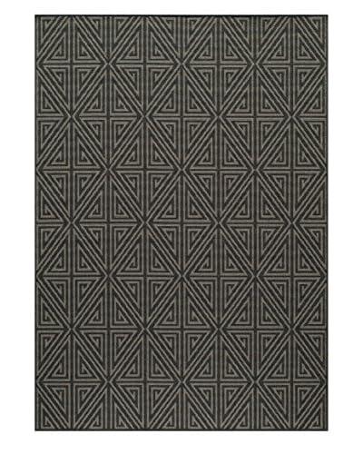 Momeni Baja Collection Indoor/Outdoor Rug, Charcoal, 5' 3 x 7' 6