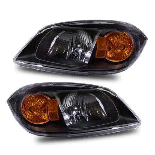 SPPC Headlights 2/4 Door Black (Base, Ls, Lt, Ltz Model) For Chevy Cobalt - Passenger and Driver Side