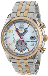 Citizen Women's FC0004-58D World Time A-T Eco-Drive Mother-Of-Pearl Dial Watch