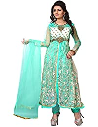 Pal-Pal Women Net & Silk Salwar Suit (Sky Blue)