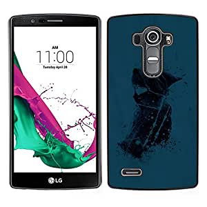 Omega Covers - Snap on Hard Back Case Cover Shell FOR LG G4 - Blue Girl
