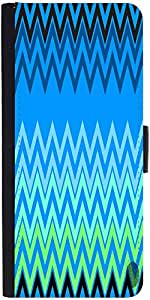 Snoogg Wave Patterns Blues Designer Protective Phone Flip Case Cover For Intex Eco 102E