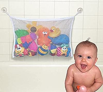 EJY Kids Baby Bath Time Toys Storage Suction Bag