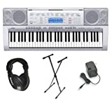 Casio CTK-4000 Premium Keyboard Pack with Power Supply, Keyboard Stand and Professional Closed Cup Stereo Headphones
