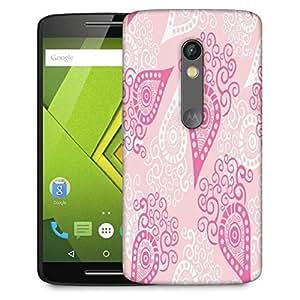 Snoogg Pink Pattern Designer Protective Phone Back Case Cover For Lenovo Motorola Moto G4