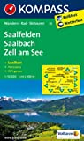 Saalfelden - Saalbach-Hinterglemm - Zell am See: Wanderkarte mit KOKMPASS-Lexikon, Radwegen, Skitouren und Panorama. GPS-genau. 1:50000
