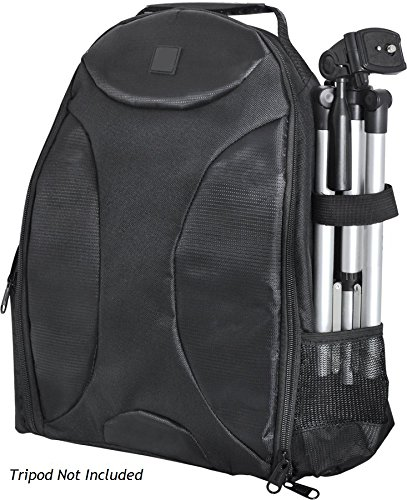 Photography BackPack For: Casio Exilim EX-H5 - Tripod Sleeve, Six Inner Dividers…