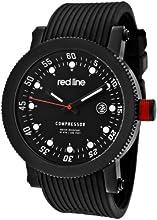 Red Line Men's Compressor Black Dial Black Silicone Watch RL-18000-01-BB