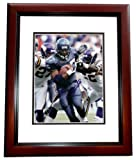 Shaun Alexander Autographed Seattle Seahawks 8x10 Action Photo MAHOGANY CUSTOM FRAME vs. Vikings at Amazon.com