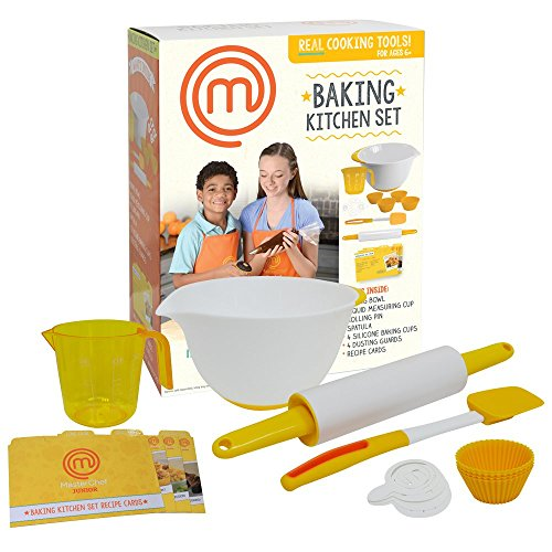 MasterChef Junior Baking Kitchen Set - 7 Pc. Kit Includes Real Cooking Tools for Kids and Recipes (Kids Cooking And Baking compare prices)
