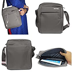DMG CoolBell CrossBody Sling Bag Carrying Case with Accessory Pockets for Samsung Galaxy Note 10.1 800 (Grey)