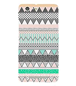 Abstract Zig Zag Pattern Cute Fashion 3D Hard Polycarbonate Designer Back Case Cover for Gionee Marathon M5