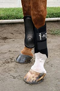 Professionals Choice Equine Ventech Splint Boot, Pair (Medium, Black)