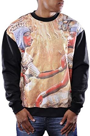 Buy LATHC Mens Egyptian Ancient Goddess Fleece Crewneck Sweater by LATHC