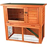 TRIXIE Pet Products 62301 Rabbit Hutch With Sloped Roof, Medium
