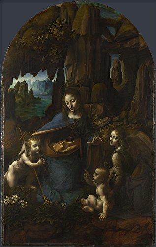 leonardo-da-vinci-the-virgin-of-the-rocks-oil-painting-24-x-38-inch-61-x-96-cm-printed-on-polyster-c