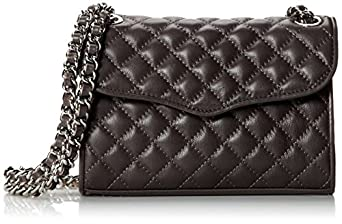 Rebecca Minkoff Mini Quilted Affair Cross-Body Bag,Charcoal,One Size