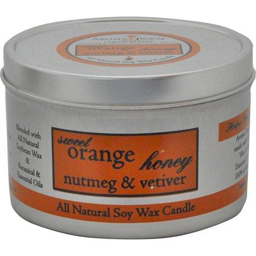 Orange Nutmeg Vetiver Travel Tin Candle