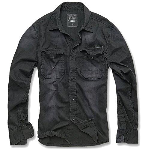 Camicia da uomo Brandit Bleached zannys Box Edition nero XXL