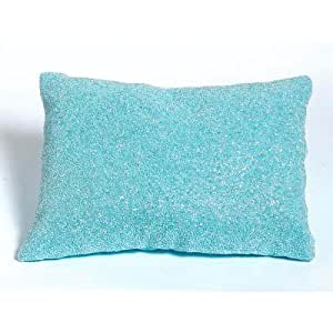 Blue Beaded Throw Pillow : Amazon.com - Beaded Decorative Pillow in Blue - Childrens Bedding Collections