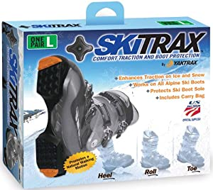 Yaktrax SkiTrax (Black/Orange, Medium)