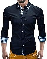MT Styles Hemd Slim Fit Kontrast BH-305