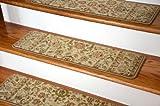 Dean Premium Carpet Stair Tread Rugs - Bergama Ivory 31