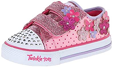 skechers kids 10472n pretty blossoms light up. Black Bedroom Furniture Sets. Home Design Ideas