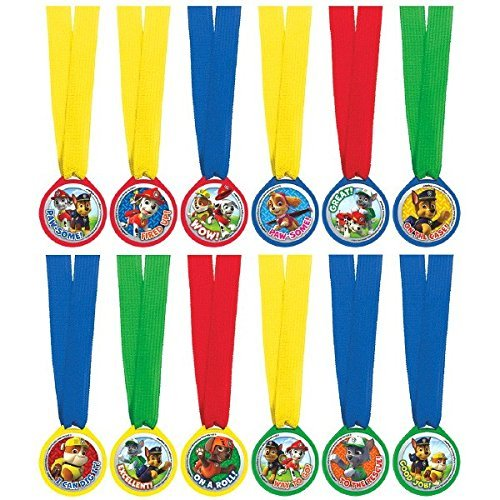 Paw Patrol Mini Award Medals, 12 per package