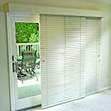 Glider Blinds Track System for Sliding Glass Patio Doors (White, 76