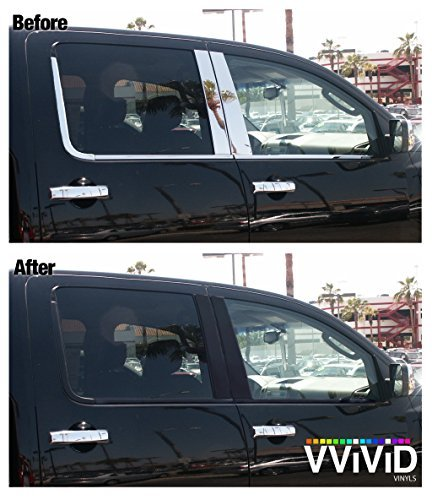 No-More Chrome Black Satin Vinyl Overlay Wrap Black-Out Strips 2 x 20ft Roll DIY by VViViD