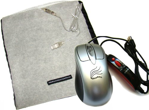 2-piece Set: ValueRays® USB Warm Mouse & USB Mouse Hand Warmer®, Infrared Heating Pad, Infrared Computer Mouse, Heated Computer Mouse, Heated Mouse, Heated Mouse Pad, USB Hand Warmers, Warm Mouse, Warm Computer Mouse, Computer Mouse, Mini Electric Blanket, 2-piece Set
