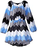 My Michelle Big Girls High/Low Peasant Dress with Tie Front