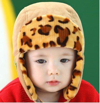 TIAN® - Nette Kinder Winter-Hippie Ohrenklappen-Mütze Lei Feng Cap 3745 Größe (48-50cm) - Licht-Kaffee