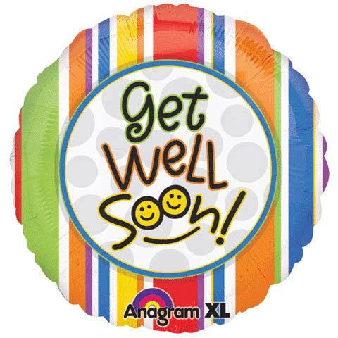 "Anagram Foil Balloon 18"" Get Well Soon Smiles"