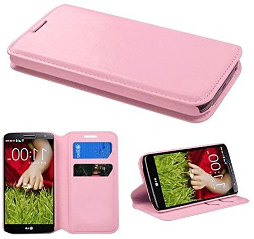 Mylife Chiffon Rose Pink {Innovative Design) Faux Leather (Multipurpose - Card, Cash And Id Holder + Magnetic Closing) Folio Slimfold Wallet For The Lg G2 Smartphone (External Textured Synthetic Leather With Magnetic Clip + Internal Secure Snap In Closure front-50414
