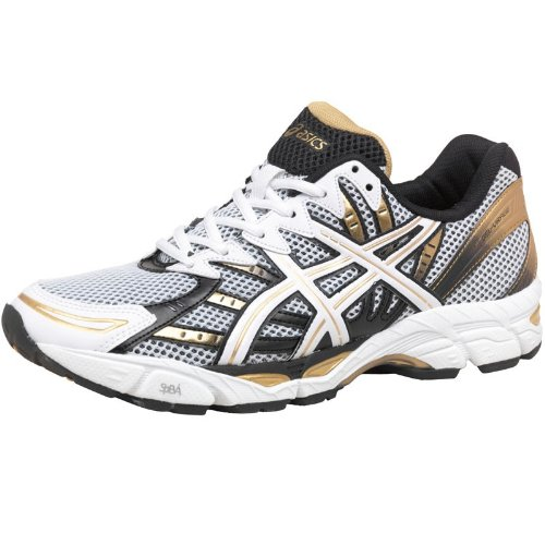 Asics Mens Gel Virage 6 Running Shoes Whitegoldblack