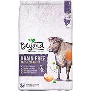 Purina Beyond Natural Dry Dog Food, Grain Free, Beef & Egg Recipe, 13-Pound Bag, Pack of 1