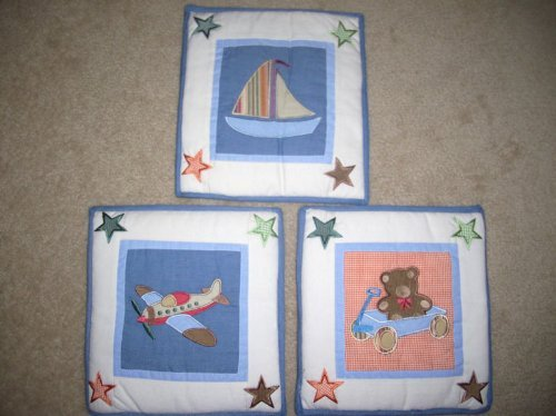 Beansprout Toyland Theme Wall Hangings-set of 3