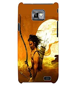 ColourCraft Lord Rama Design Back Case Cover for SAMSUNG GALAXY S2 I9100