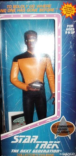 "10"" Lt. Commander Geordi La Forge - Star Trek: The Next Generation Collector's Figure By Enesco"