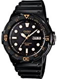 Casio #MRW200H-1EV Men's Black Rubber Band 100M Sports Analog Watch