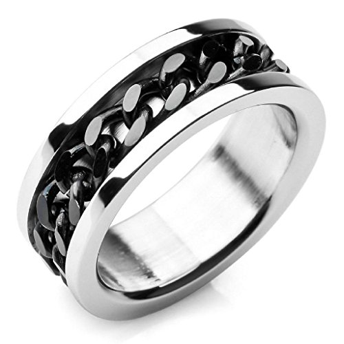 epinkifashion-jewelry-mens-stainless-steel-rings-band-silver-black-chain-wedding-size-9