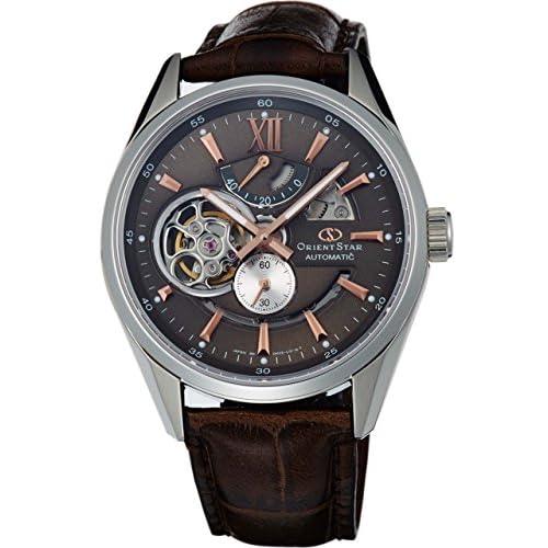 [オリエント]ORIENT 腕時計 ORIENTSTAR オリエントスター モダンスケルトン 機械式 自動巻き (手巻き付き)  ブラウングレー WZ0201DK メンズ